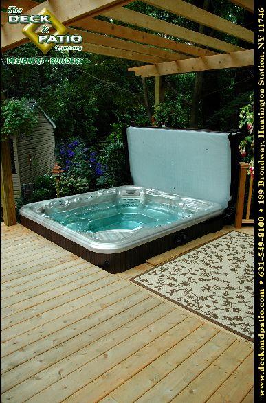 Deck Hot Tub Let S Take It Outside Lawn Patio