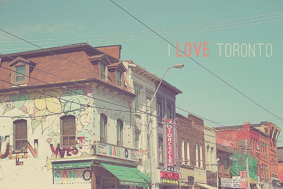 Toronto Queen Street West Ontario Canada Shopping Hipppie Hipster Colorful Graffiti Shops Street Travel Downtown - 8 x 12