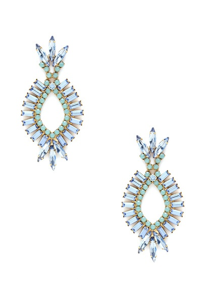 Crystal Open Oval Earrings by Elizabeth Cole on Gilt.com