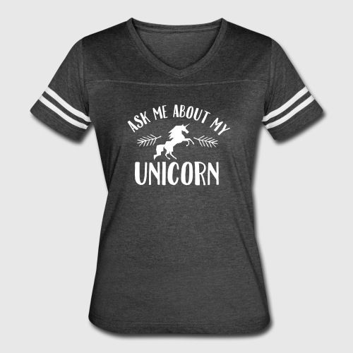 Ask Me About My Unicorn Long Sleeve Shirts - Women's Vintage Sport T-Shirt