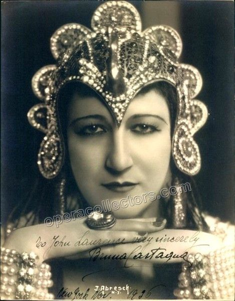 Italian contralto (1905-1983), beautiful signed photo in role (most probably as Amneris, in Aida), 7.25 x 9.5 inches, inscribed and dated in New York in 1936. An original Jas Abresch photo, stamped on
