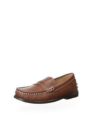 Ortopasso Kid's T-Strap Sandal with Heel (Cuero)