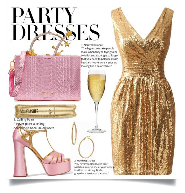 """#PolyPresents: Party Dresses"" by sophie-pentel on Polyvore featuring Miu Miu, Bony Levy, Riedel, contestentry and polyPresents"