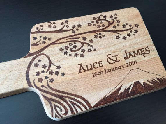 Personalized Paddle Cheese board Wedding gift by StarWoodDesigns