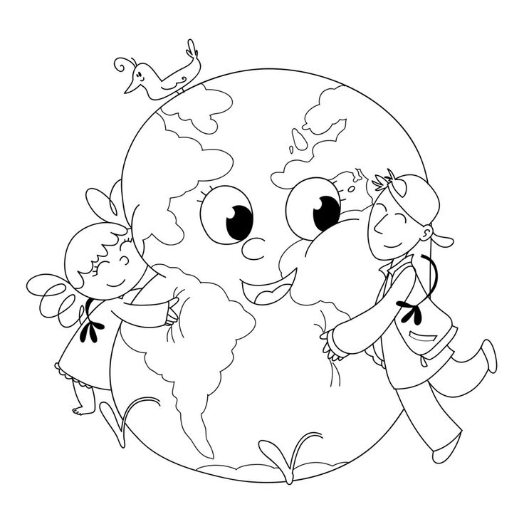 Earth Day coloring page.