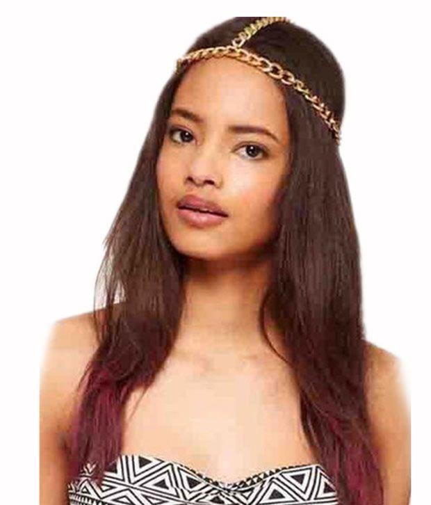 Style Fiesta Gold Chain Headband