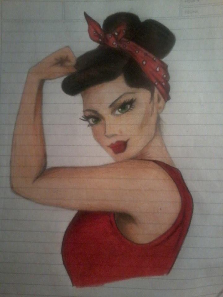 El poder de la mujer  #Dibujo #Mujer #Pinup #Arte #Lapiz