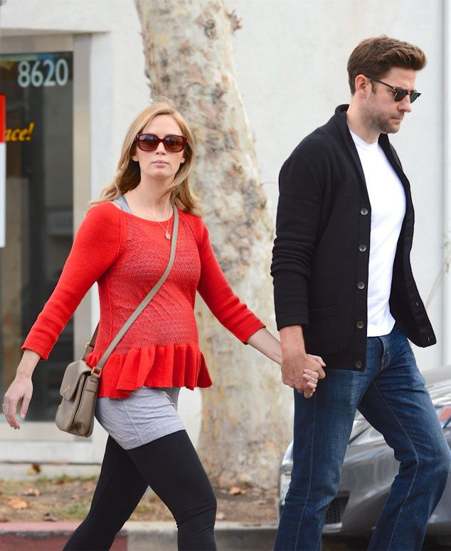 Pregnant Emily Blunt Flaunts Growing Baby Bump While Furniture Shopping With Hubby John Krasinski