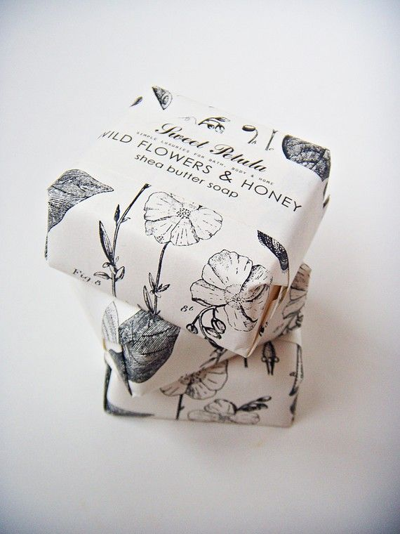 Shea Butter Guest Soap  Wildflowers & Honey Floral by sweetpetula, $5.00