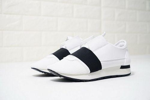 b3017303ca6c 2019 的 Hotsale Balenciaga Race Runner Low Top Sneakers White Black ...