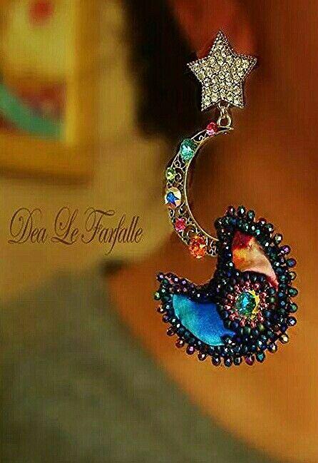 Dea Le Farfalle Creations Swarovsky Bead Embroidery