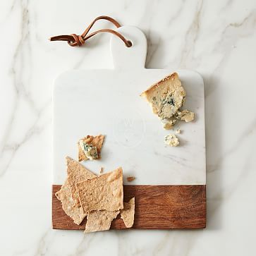 Marble   Wood Cutting Board - Rectangle #westelm