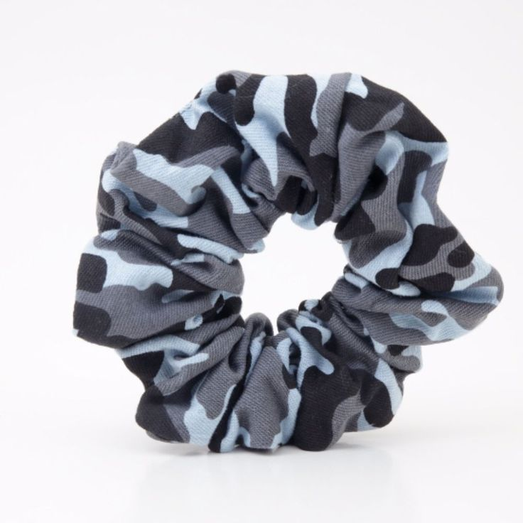 Denim Military Print Hair Turban Hair Ties Scrunchies  #VeryShine #CasualEveryday