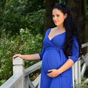 CATHERINE ROYAL BLUE Těhotenské šaty