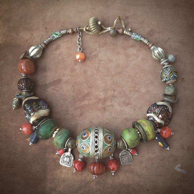 Купить Бусы ТАГМУТ - восточный стиль, африканский стиль, морокко, Свободный стиль, этно, бохо