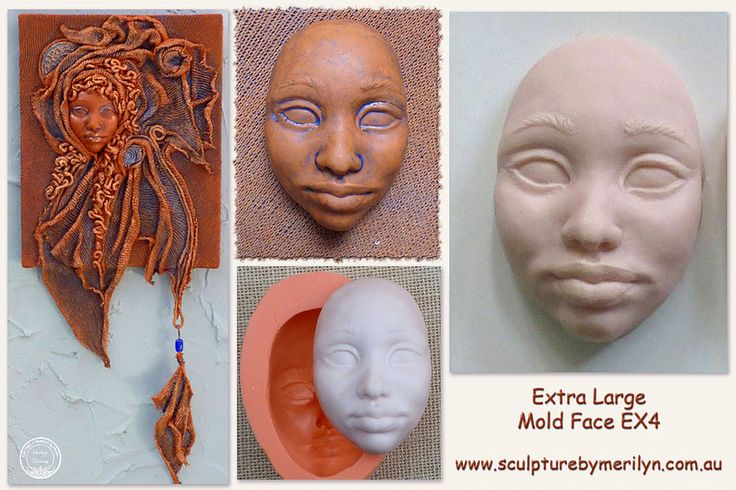 These Silicone Push Molds come in a variety of face sizes and styles. Amazing polymer characters can be made with these molds. Suitable for many craft uses.