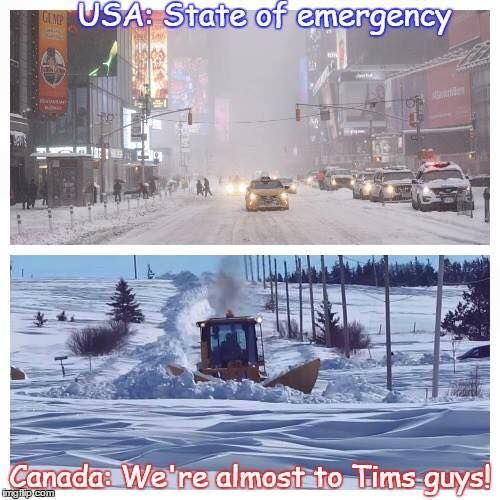 Nothing can stop us from going to Tims!