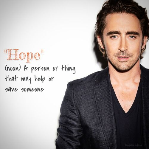Word of the Day with Lee Pace.