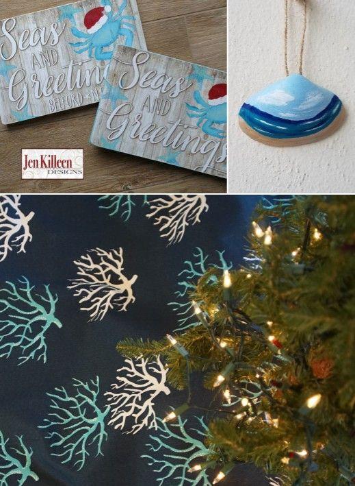 Shop Coastal Christmas Decor  Ornaments Coastal Etsy Pinterest