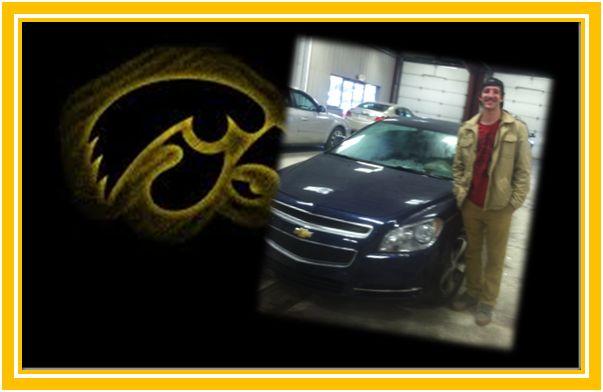 Kaleb drove away in his 2011 Chevy Malibu!