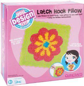 Colorbok You Design It Latch Hook Pillow Kit