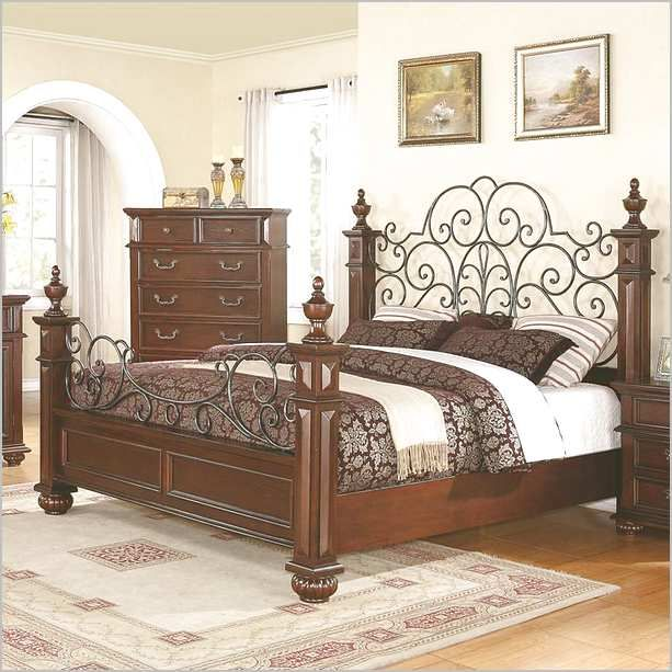 Wood And Wrought Iron Bed Frames Bedroom Ideas