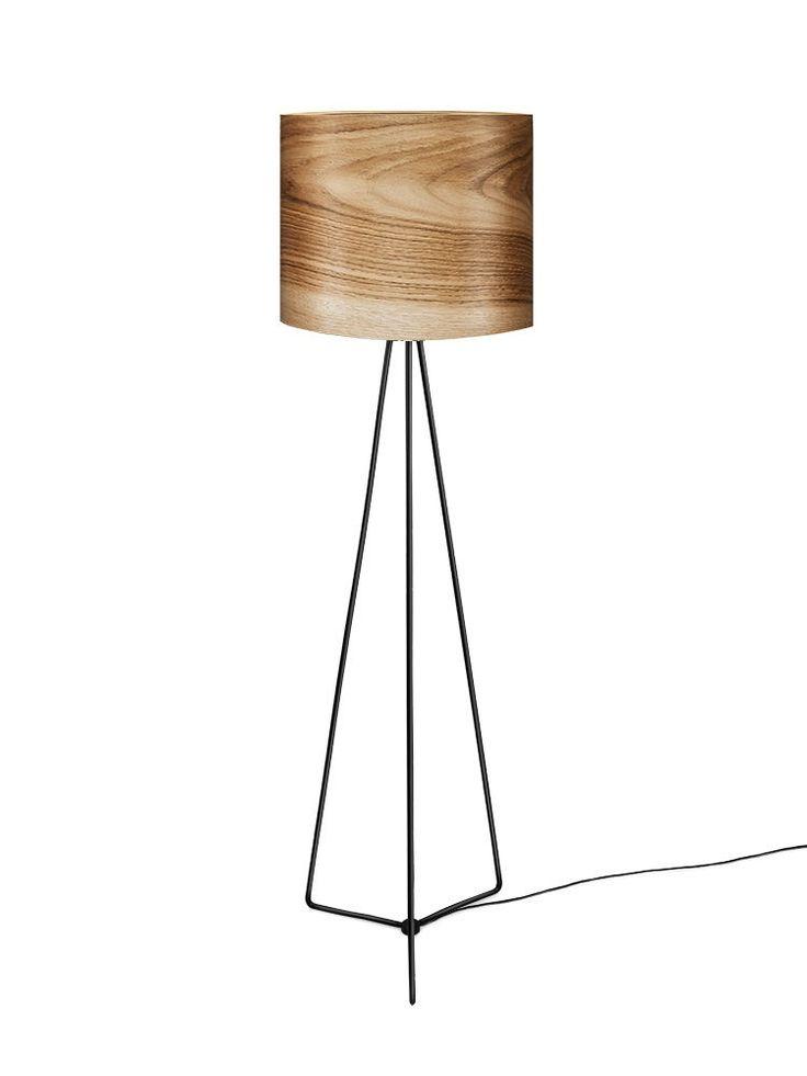 KRIST Design Floor Lamp - Natural Chestnut - Interior Home Design Trends - Ambient Lighting by Sponndesign on Etsy
