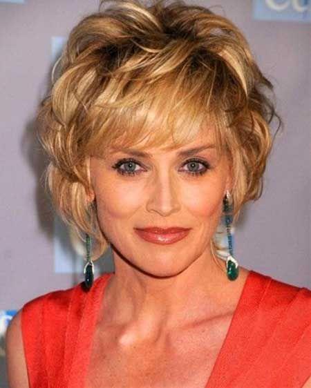 Kort kapsel Sharon Stone
