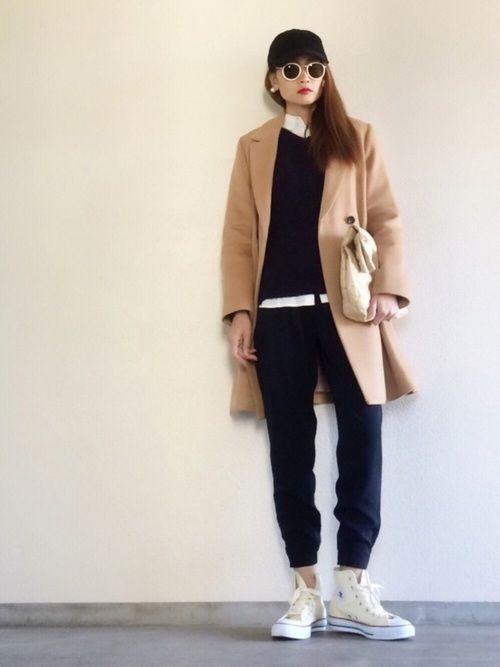 Yukie♡iさんの「ビーバーメルトンAラインテーラードコート(UNITED TOKYO)」を使ったコーディネート