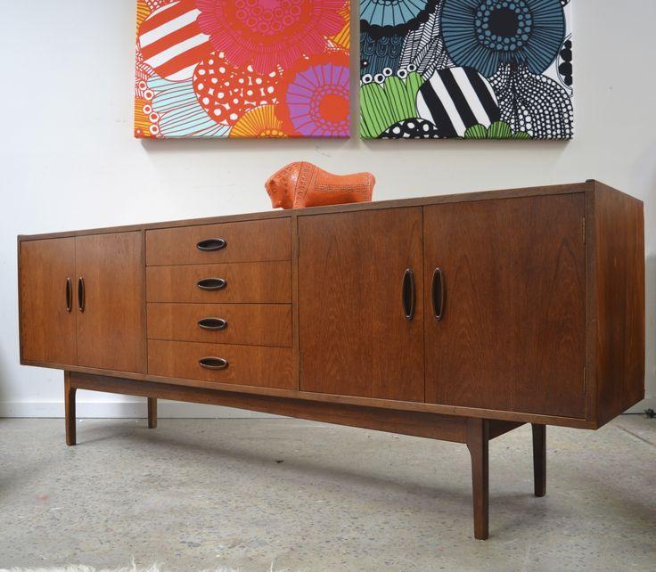 Fred Lowen designed Fler 64 teak sideboard   www.tangerineandteal.com