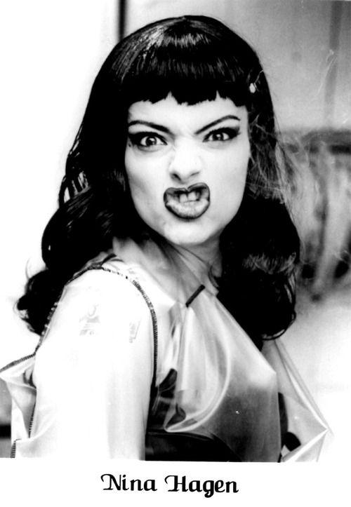 NINA HAGEN. did i already? i dont care