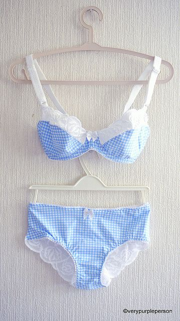 Baby blue gingham set by Novita