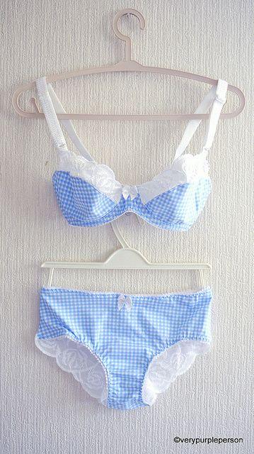 Baby blue gingham set by Novita