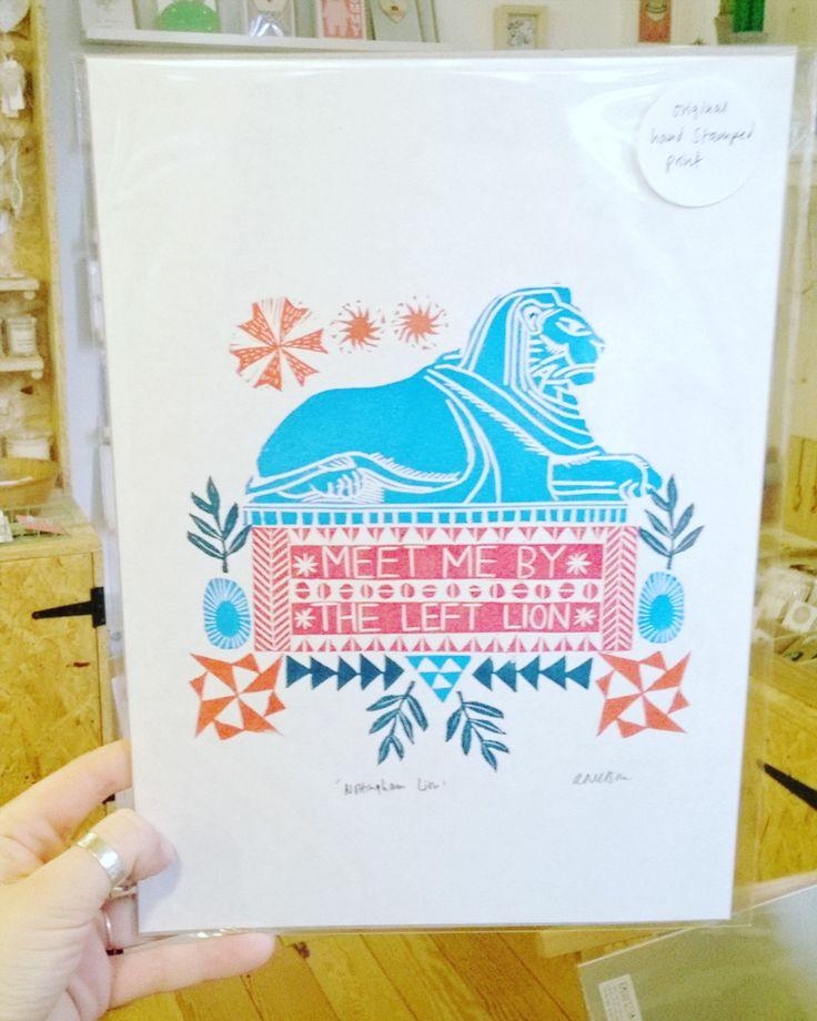 We are open and you've got now prints in by @fabritziadesign!  . . . #meetmeattheleftlion #leftlion #Nottingham #shopnotts #lovenotts #itsinnottingham #hiddennottm #shoplocal #shopsmall #designermaker #pursuepretty #flashesofdelight #thehappynow #supportindependent #makersvillage #handmadeisbetter #giftshop #craftsposure #linoprint #printmaker #printmakersofinstagram