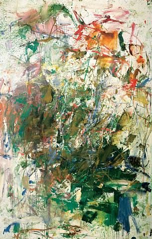 I Love, Love, Love, Joan Mitchill. She was a painter, and her work is known as expressionism. Studied her in school, there is a method to what very much looks like madness created with a brush. Her pieces are meant to evoke emotion.....if you are a fan of the abstract arts, her pieces are worth looking through. My favorite by her is titled City Landscape.....<-- (i think, its city something lol)