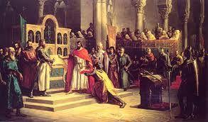 [Los hombres del Cid vencen a los moros y los persiguen hasta Calatayud. Los hombres del Cid ganan mucho tesoro de la conquista y envían parte de su riqueza al rey Alfonso. El rey acepta el regalo y proclama que los que quieran podrán juntarse con el Cid. Pero todavía mantiene en efecto el destierro del Cid.