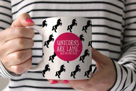 unicorns are lame coffee mug | swanky press