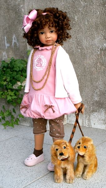 Annette Himstedt African American Doll | Naturally Beautiful Hair: Dolls by Angela Sutter & Annette Himstedt