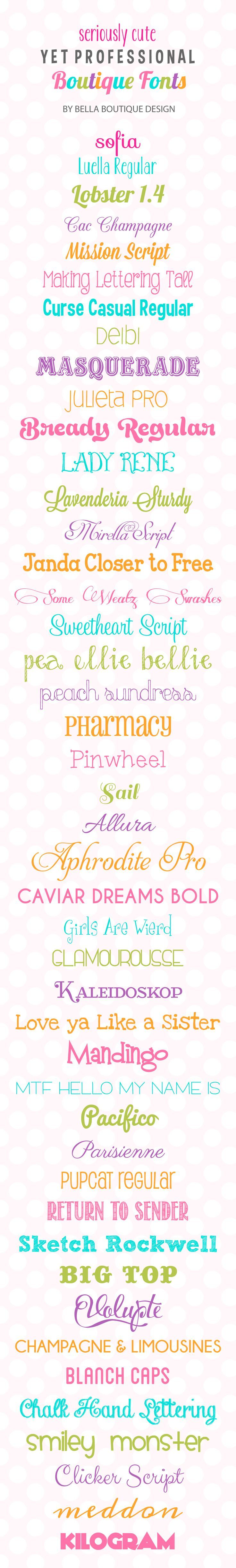 25 Best Cute Fonts Images On Pinterest Letter Fonts