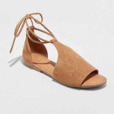 107964fa21d Women s Aileen Lace Up Slide Sandals - Universal Thread™   Target ...