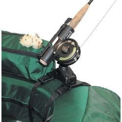 "Fly Rod Holder267The Fly Rod Holder combined with adjustable wrap-around straps and quick-release clips to use with your float tube or pontoon boatInnovative compact design allows hands free trolling with a fly rod. Fully adjustable and includes a safety strap. Even works well with ""short butt"" fly rods"