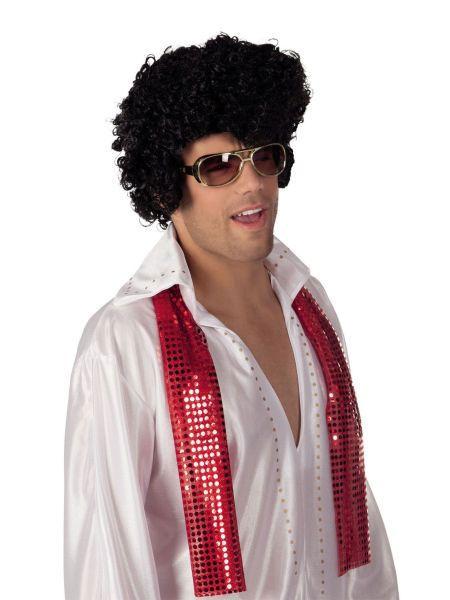 "https://11ter11ter.de/21339780.html schwarze Männer Perücke ""Rock 'n Roll Rockstar"" #11ter11ter #haare #fasching #party #karneval #perücke #elvis #star #promi #locken"