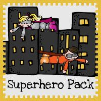 Free Superhero Pack - over 70 pages of activities with print and cursive options.
