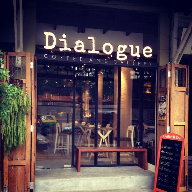 Dialogue coffee and gallery. Cafe' in Bangkok, Thailand. #DolceCreativeCoffee