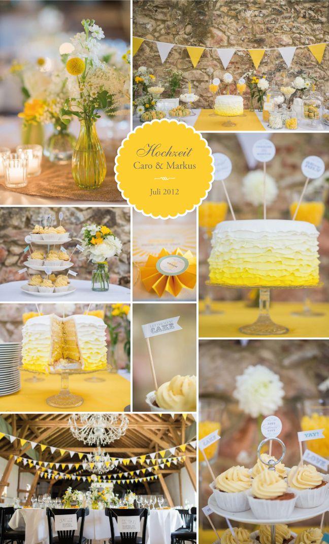 Maisenburg Gelb weiße Wimpelkette an Steinwand