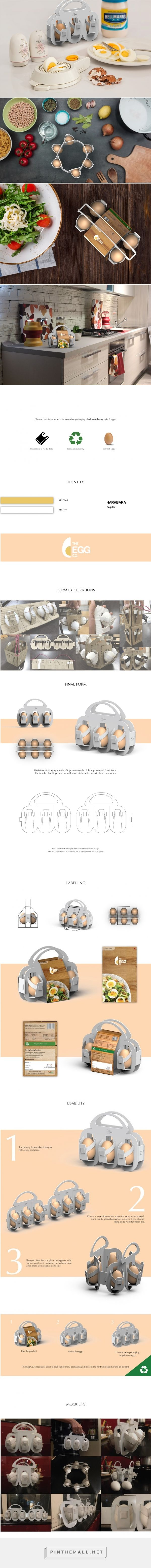 Reusable egg packaging design by Dhruv Anand (student project) - http://www.packagingoftheworld.com/2017/09/the-egg-co-student-project.html