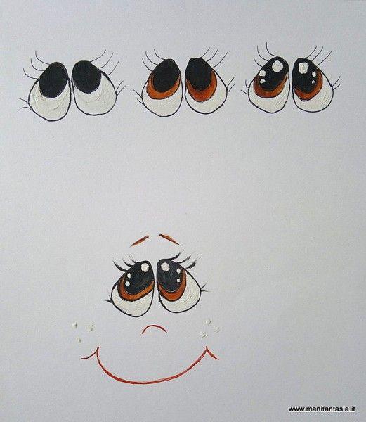come dipingere gli occhi alle bambole