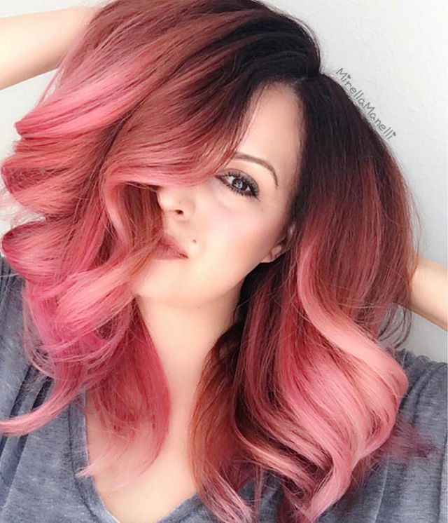 Valentine's Day hair inspo!  Color by @jedihairmaster. #Valentinesday #Valentine #Hair #Hairstyle #Style #Red #Pink #Fuschia #Magenta #Thinkpink #Colorist #Hairdresser #Stylist #Salon #Inspo #Inspiration #Hairspo #Suavecita