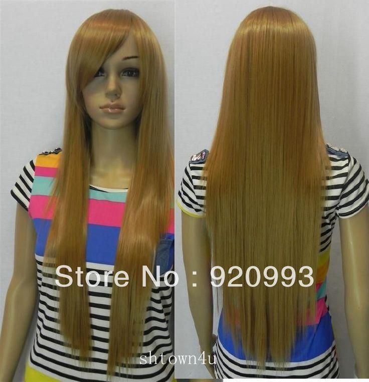 Бесплатно P и P ******* 2012 темно-золотисто-коричневый длинные прямые волосы косплей