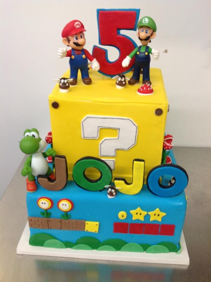 Mario and Luigi Video Game Cake